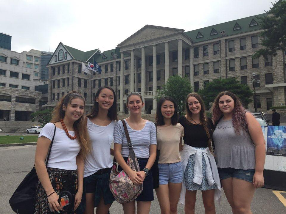 A student photo from the Korea high school summer group